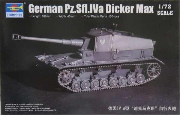 Niemieckie prototypowe samobieżne działo przeciwpancerne Pz.Sfl. IVa Dicker Max, plastikowy model do sklejania Trumpeter 07108 w skali 1:72