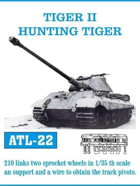 Metalowe gąsienice do modelu Tiger II / Hunting Tiger w skali 1:35, Friulmodel ATL-22