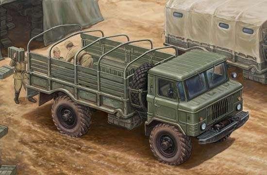 Rosyjska lekka ciężarówka wojskowa GAZ-66 , plastikowy model do sklejania Trumpeter 01016 w skali 1:35