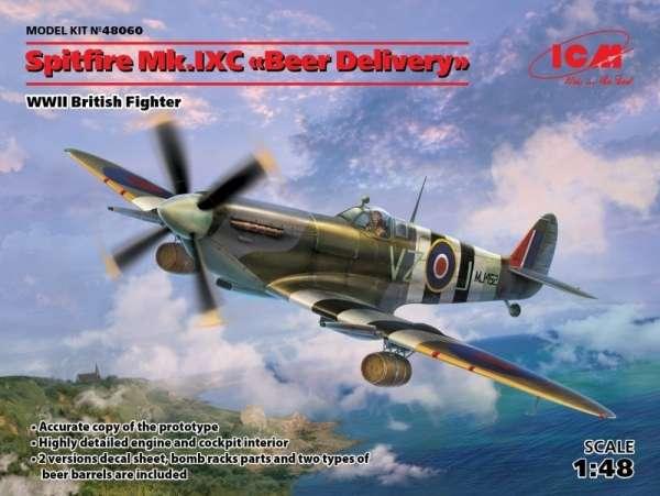Brytyjski myśliwiec Spitfire Mk. IXC, plastikowy model do sklejania ICM 48060 w skali 1:48