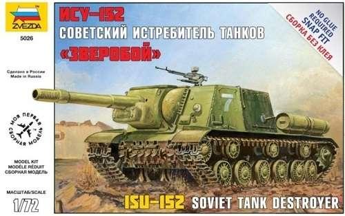 Radziecki niszczyciel czołgów ISU-152, plastikowy model do składania Zvezda 5026 w skali 1:72