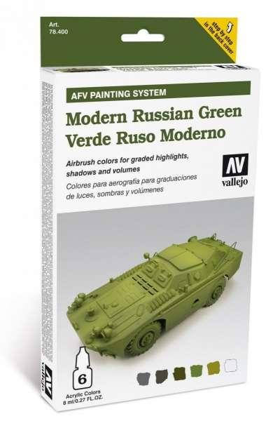 Zestaw farb Modern Russian Green, Vallejo 78408.
