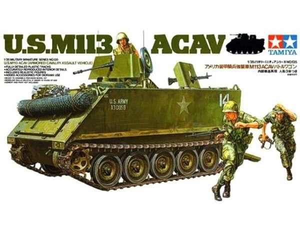 Amerykański transporter opancerzony M113 ACAV, plastikowy model do sklejania Tamiya 35135 w skali 1:35