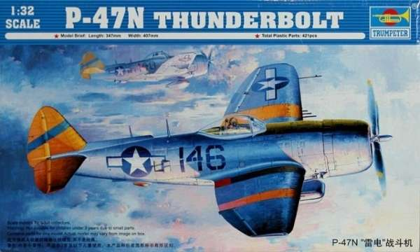 Model myśliwca Thunderbolt P-47N w skali 1:32, Trumpeter 02265-image_Trumpeter_02265_1