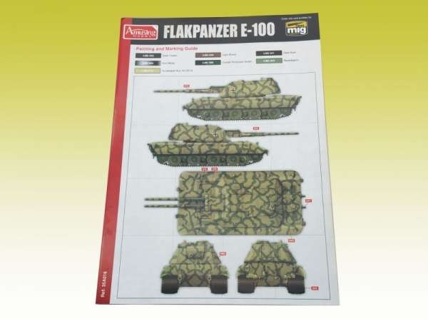 Amusing Hobby 35A016 w skali 1:35 - image b - model Flakpanzer E-100 88 mm Flakzwillig
