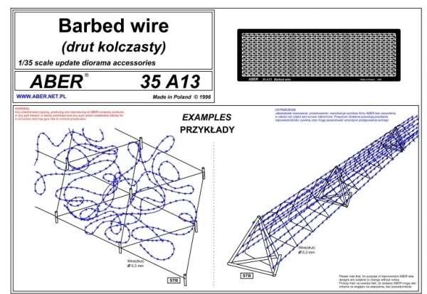 Aber 35A13 Drut kolczasty (2400 mm)