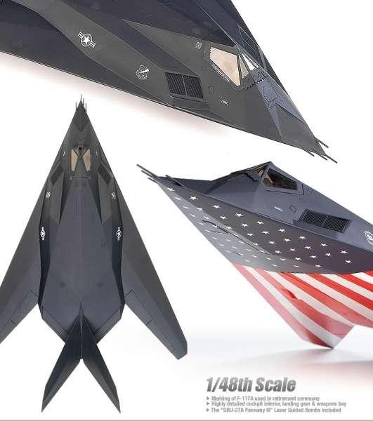 Amerykański bombowiec model_academy_12219_f117a_lockhead_image_4-image_Academy_12219_3