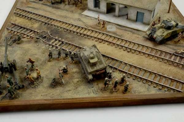 Battle Set El ALamein The Railway Station Italeri 6181 zestaw modelarski do sklejania image_1_ita6181_m