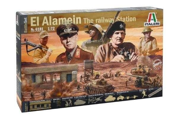 Battle Set El ALamein The Railway Station Italeri 6181 zestaw modelarski do sklejania image_1_ita6181_b