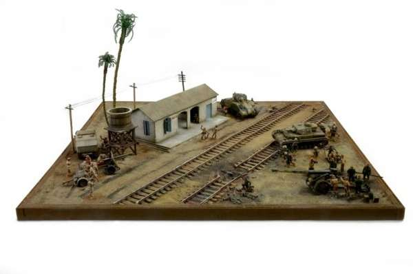 Battle Set El ALamein The Railway Station Italeri 6181 zestaw modelarski do sklejania image_1_ita6181_c