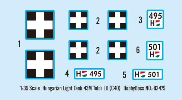 Kalkomania modelu Hobby Boss 82479