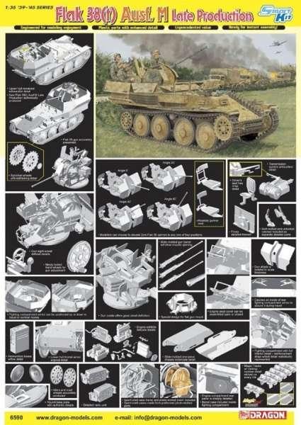 Dragon 6590 plastikowy model do sklejania w skali 1:35 - image g - FlaK 38(t) Ausf.M (Late Production)