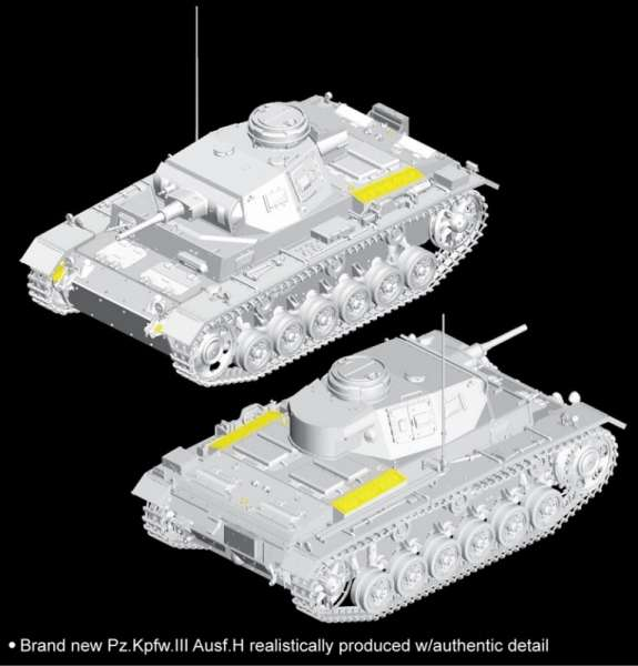 Dragon 6642 Sd.Kfz.141 Pz.Kpfw.III (5cm) Ausf.H (Late Production)