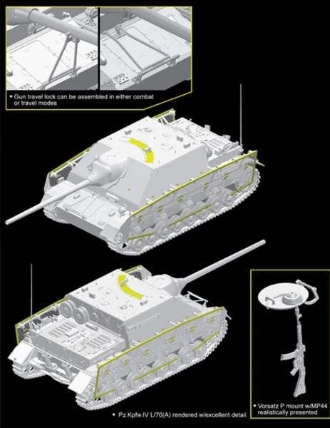 Model niszczyciela czołgów PzKpfw IV L/70 - image_dra6784_2 - model Dragon 6784