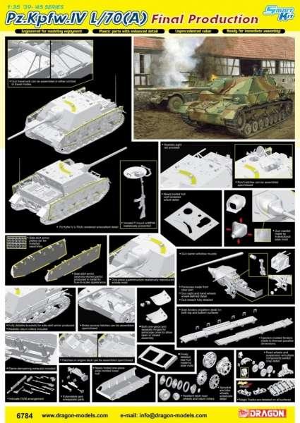 Model niszczyciela czołgów PzKpfw IV L/70 - model-dragon-6784 - image_dra6784_3