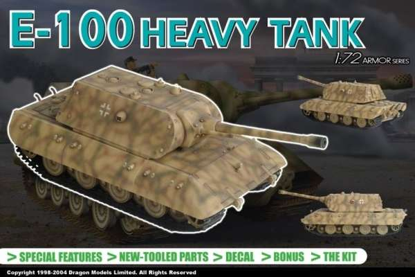 German heavy tank E100 in scale 1/72 - Dragon 7256
