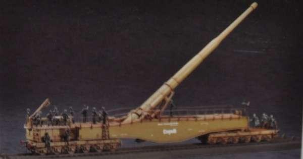 Sklejony model działa kolejowego Krupp K5 Leopold - Hasegawa MT58