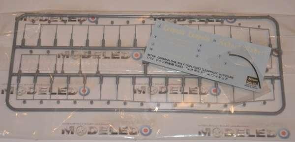 Wypraski oraz kalkomania do modelu działa kolejowego Leopold w skali 1/72