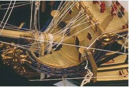 Detale sklejonego okrętu liniowego Soleil Royal