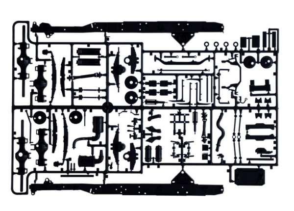 Tir do sklejania Berliet / Renault R360 Le Centaure w skali 1:24 Italeri 3913 model_ita3913_image_8-image_Italeri_3913_7