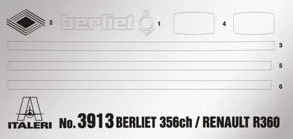 Tir do sklejania Berliet / Renault R360 Le Centaure w skali 1:24 Italeri 3913 model_ita3913_image_3-image_Italeri_3913_5