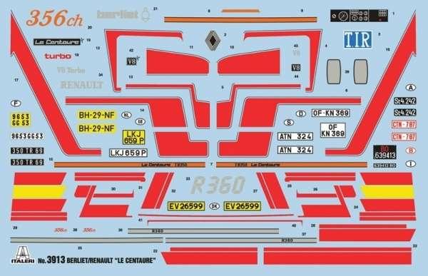 Tir do sklejania Berliet / Renault R360 Le Centaure w skali 1:24 Italeri 3913 model_ita3913_image_2-image_Italeri_3913_4