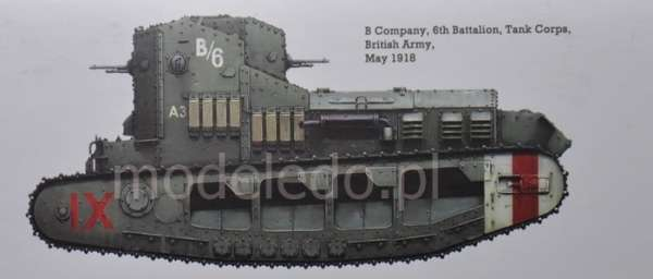 Model Meng TS-021 Mk.A Whippet British Medium Tank WWI plastikowy_model_do _sklejania_image_2-image_Meng_TS-021_3