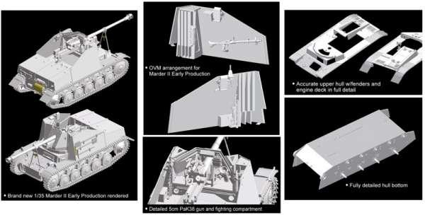Dragon 6769 w skali 1/35 - model do sklejania Marder II Panzerjager II fur Pak 40/2 - image j