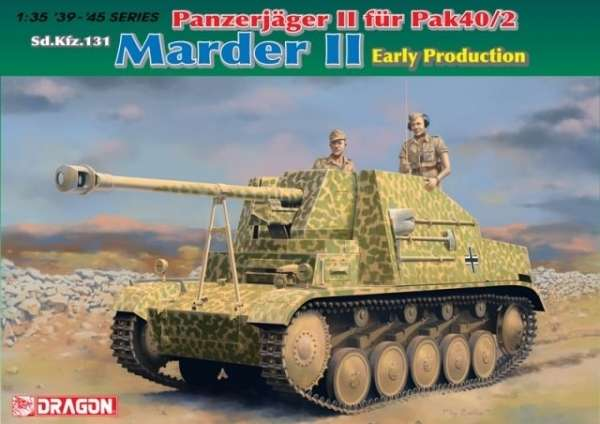 Dragon 6769 w skali 1/35 - model do sklejania Marder II Panzerjager II fur Pak 40/2 - image a