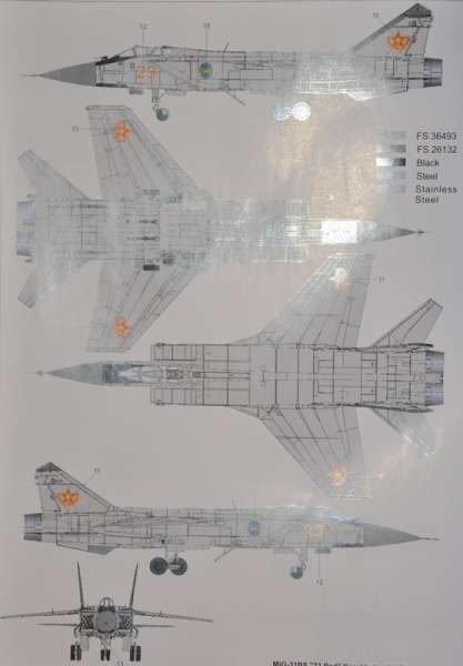 Model Mig-31 B/BS Foxhound AMK 88008