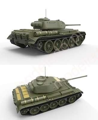 Plastikowy model do sklejania radzieckiego czołgu T44 w skali 1:35 firmy Miniart 35193