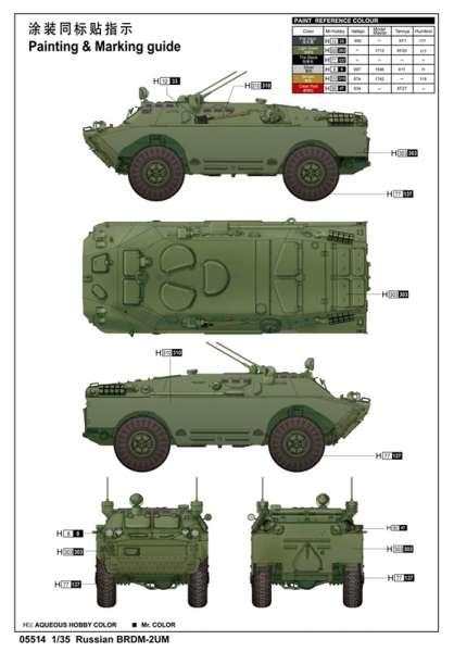 Model Trumpeter 05514 Pojazd BRDM-2UM