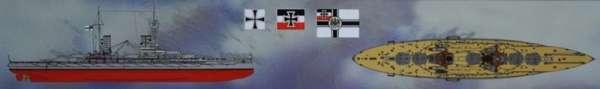 Model WWI German Battleship Markgraf ICM S005