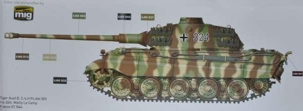 Model czołgu Kingtiger z wieżą Porsche Takom 2074