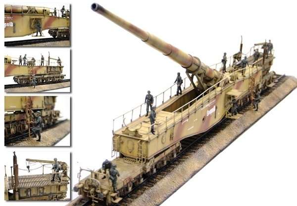 German Railway Gun 28cm K5(E) Leopold model_do_sklejania_dragon_6200_1_35_image_3-image_Dragon_6200_3