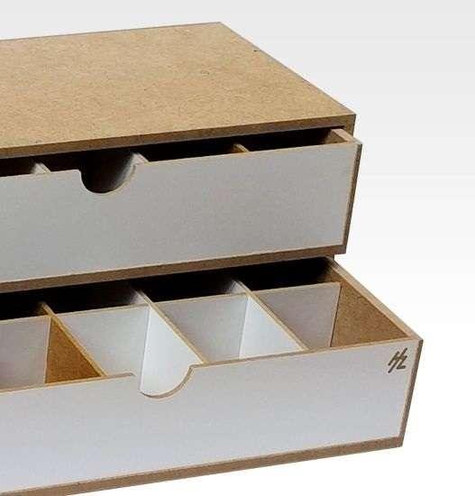 Organizer modułowy z 2 szufladkami - OM02b