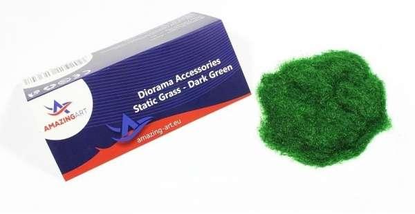 Sztuczna trawa statyczna - ciemnozielona 2mm - Amazing Art 13647