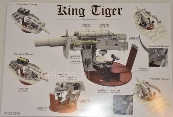 Takom 2045 King Tiger Henschel Turret w/Zimmerit