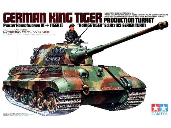 Tank model King Tiger in scale 1-35, Tamiya 35164_image_1-image_Tamiya_35164_3