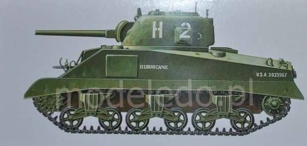 Tamiya 35190 w skali 1:35 - model U.S. Medium Tank M4 Sherman (Early Production) do sklejania - image d