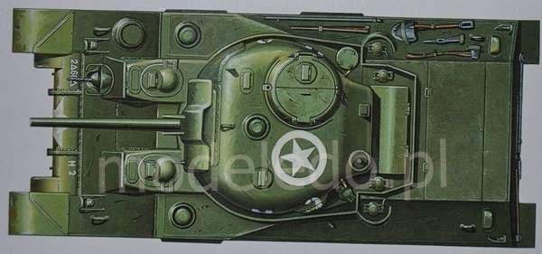 Tamiya 35190 w skali 1:35 - model U.S. Medium Tank M4 Sherman (Early Production) do sklejania - image f-image_Tamiya_35190_4