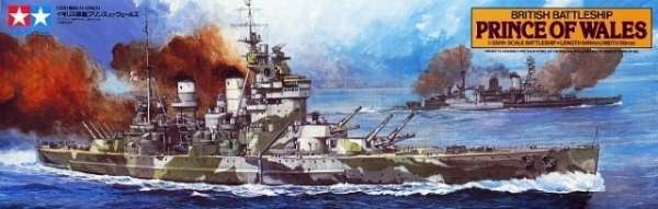 Tamiya 78011 w skali 1:350 - model British Battleship Prince of Wales - image a