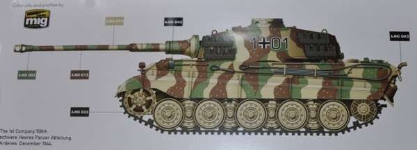 Model Takom 2073 w skali 1:35 - image a - King Tiger Henschel Turret w / interior