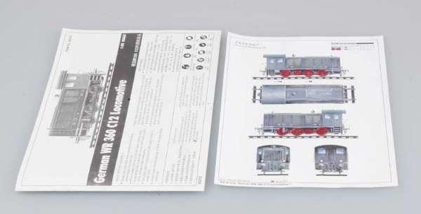 Trumpeter 00216 w skali 1:35 - model German WR 360 C12 Locomotive do sklejania - image l