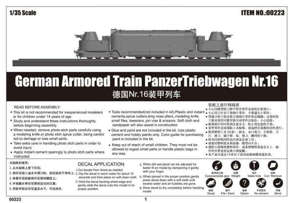 Trumpeter 00223 w skali 1:35 - model German Armored Train Panzertriebwagen Nr.16 - image b-image_Trumpeter_00223_3