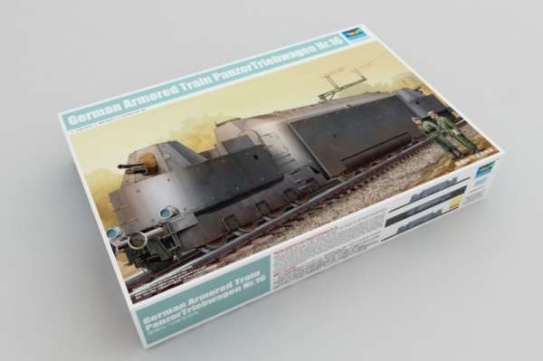 Trumpeter 00223 w skali 1:35 - model German Armored Train Panzertriebwagen Nr.16 - image a