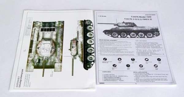 Trumpeter 00905 w skali 1:16 - model Soviet Tank T-34/76 Model 1942 - image a