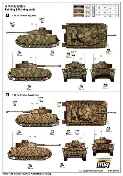 Trumpeter 00920 w skali 1:16 - model German Pzkpfw IV Ausf.H Medium Tank - image a2
