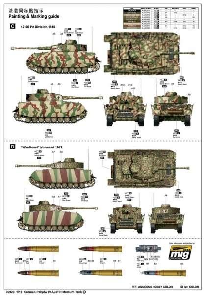 Trumpeter 00920 w skali 1:16 - model German Pzkpfw IV Ausf.H Medium Tank - image a1