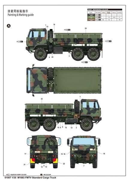 Trumpeter 01007 M1083 FMTV Standard Cargo Truck